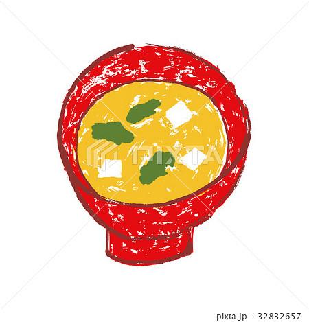 味噌汁 水彩画 32832657