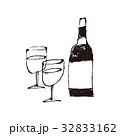 ワイン 水彩画 32833162