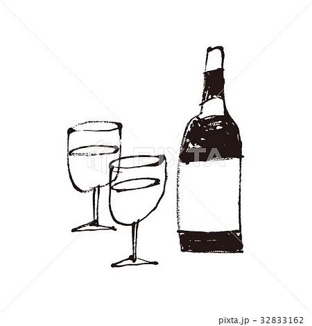 ワイン 水彩画のイラスト素材 32833162 Pixta