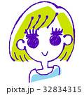 女の子のイラスト 32834315