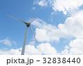 風力発電 青空 プロペラの写真 32838440
