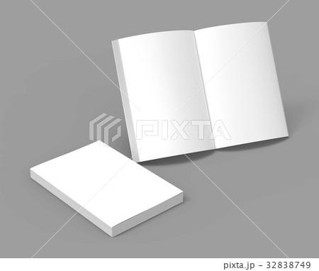 blank book templateのイラスト素材 32838749 pixta