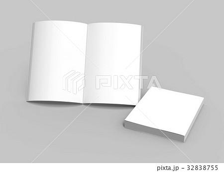 blank book templateのイラスト素材 32838755 pixta