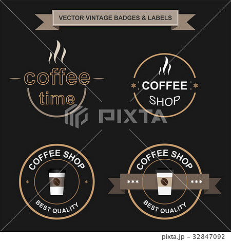Set of retro vintage badges and labels.のイラスト素材 [32847092] - PIXTA
