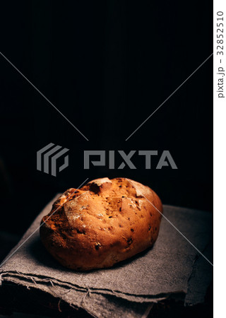 Loaf of Bread on Cloth. 32852510