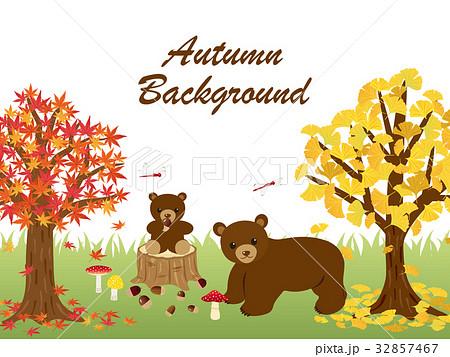 秋の森の動物たち 32857467