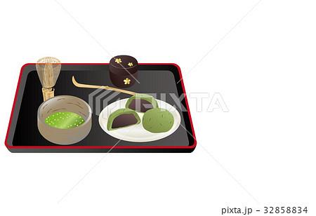 今日のスイーツ抹茶とよもぎ大福 32858834