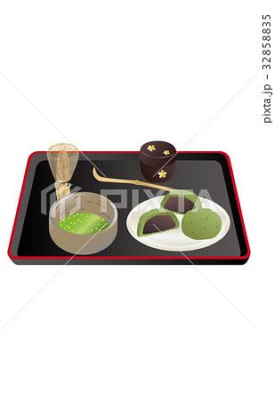 今日のスイーツ抹茶とよもぎ大福のイラスト素材 [32858835] - PIXTA