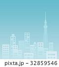 ビル群 オフィス街 シルエットのイラスト 32859546