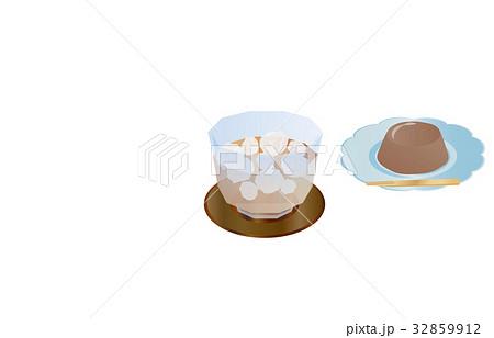 今日のスイーツ麦茶と水ようかん 32859912