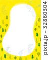 黄色の森と鳥たちの背景 32860304