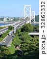 関門大橋 関門海峡 車道の写真 32860332