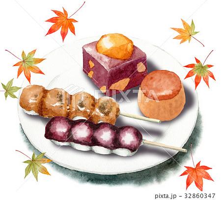 秋の和菓子セット 32860347