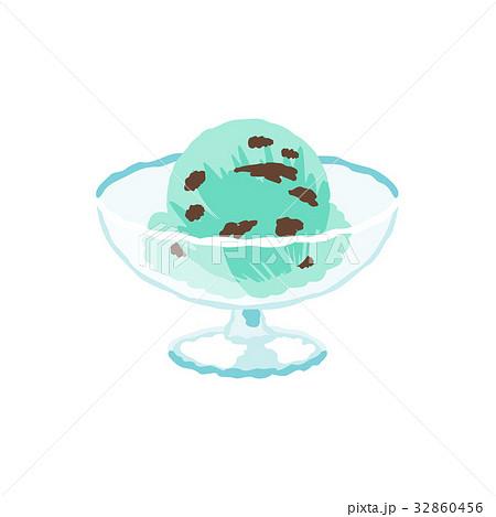 チョコミントアイスクリーム 32860456