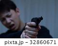 ピストル 拳銃 (犯罪 違法 犯人 悪人 変装 容疑者 事件 犯罪者 不審者 侵入 ギャング) 32860671