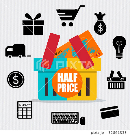 sale label price tag design vector illustrationのイラスト素材