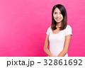 女性 ピンク ピンク色の写真 32861692