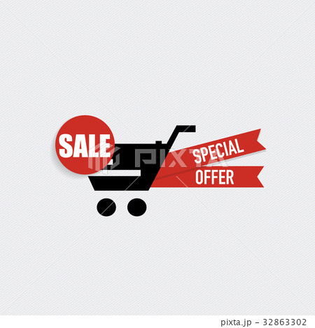 sale label price tag template design vector illustrationのイラスト