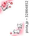 年賀状 子犬 戌年のイラスト 32864852