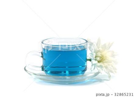 Blue tea from Butterfly pea flowerの写真素材 [32865231] - PIXTA