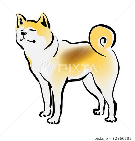 秋田犬のイラスト素材 32866285 Pixta