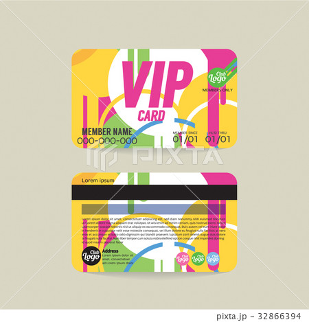 Front And Back VIP Member Card Template  32866394