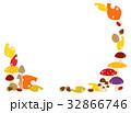 フレーム 紅葉 落葉のイラスト 32866746