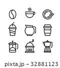 コーヒー アイコン ドリンクのイラスト 32881123