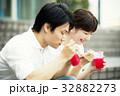 若いカップル(かき氷) 32882273