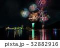 浜名湖 かんざんじ温泉灯篭流しと花火大会 内浦 向こうに浜名湖パルパル 比較明合成 32882916