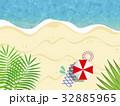 ビーチ 海 リゾートのイラスト 32885965