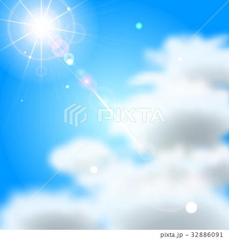 青空 雲 太陽 32886091