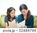 小学生 親子 母娘の写真 32889799