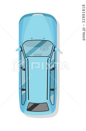 Top view family city car isolated vector icon 32891818