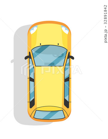 Top view modern city car isolated vector icon 32891842