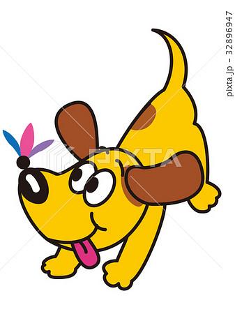 犬と羽根つきの羽根 32896947