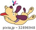 犬 羽根つき 羽根のイラスト 32896948