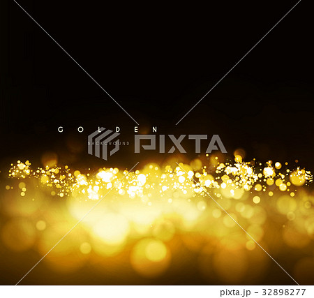 gold background with bokehのイラスト素材 32898277 pixta