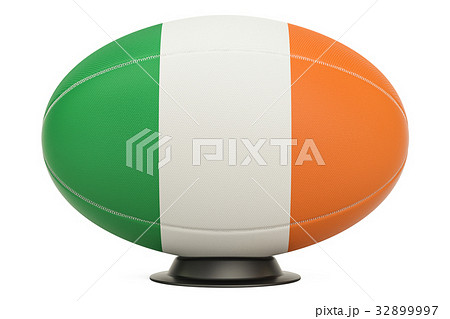 Rugby Ball with flag of Ireland on the ball standのイラスト素材 [32899997] - PIXTA