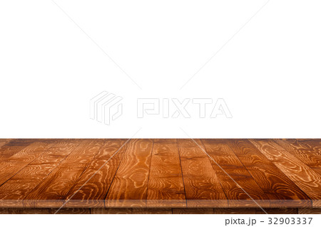 Rustic wooden table vintage style in perspective 32903337