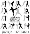 Muay Thai martial art vector illustration  32904661