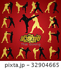 Muay Thai martial art vector illustration  32904665