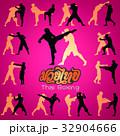 Muay Thai martial art vector illustration  32904666