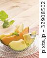 メロン 赤肉メロン マスクメロンの写真 32908502