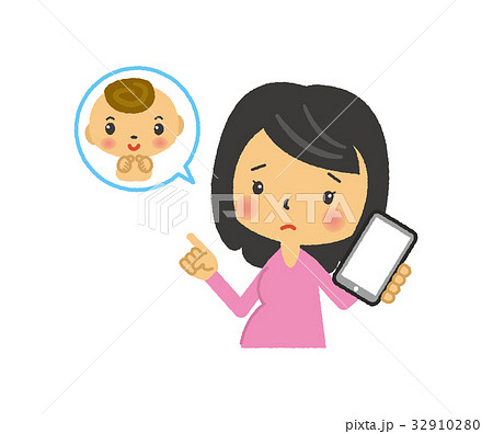 妊婦と携帯電話【二頭身・シリーズ】 32910280