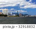 福岡タワー 街並み 海の写真 32918832