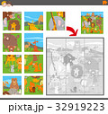 jigsaw puzzle game with cartoon animals 32919223