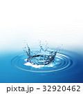 Water splash in dark blue color with a drop of 32920462