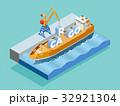 テンプレート 海港 海のイラスト 32921304
