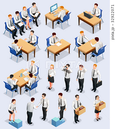 Isometric Employment Interview Collection 32922071